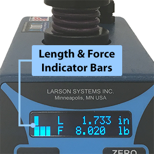 ECT Length and Force Display Indicator Bars