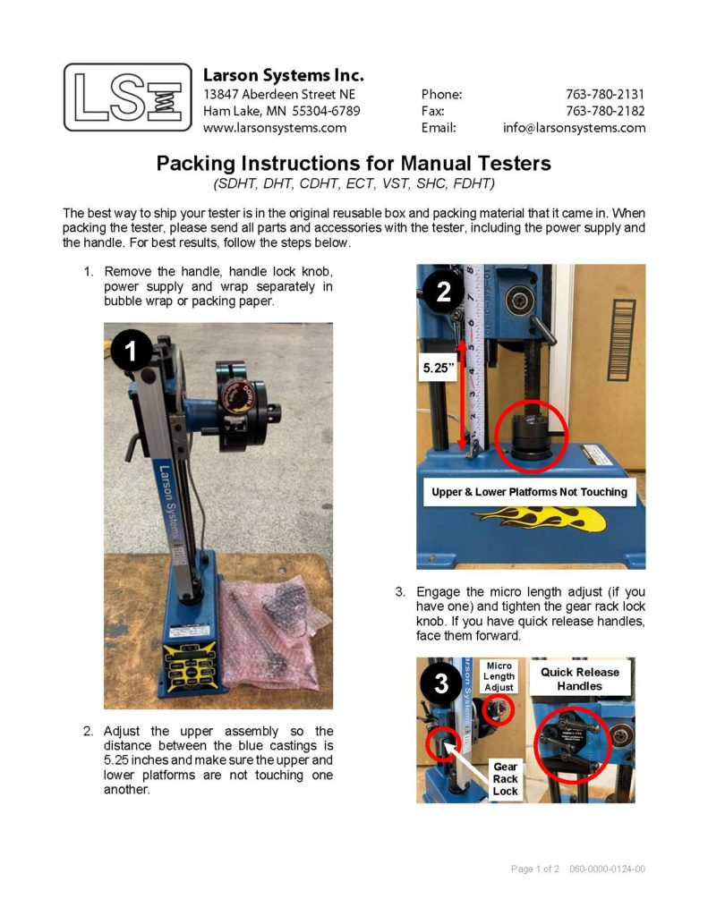 Packing Instructions for Manual Testers